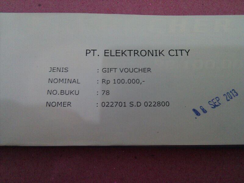 [WTS] Voucher Electronic City (murmer gan..)