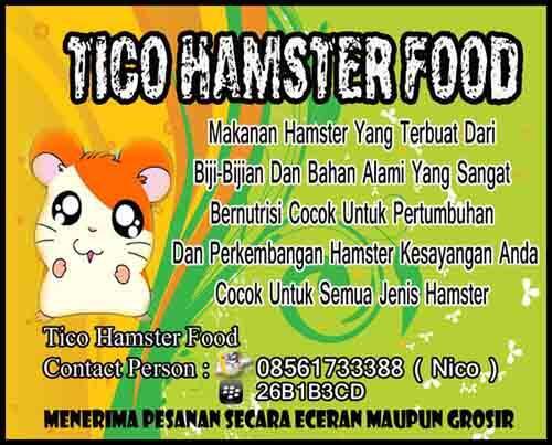 pakan hamster / makanan hamster murah / hamster food ( + bonus minyak ikan )