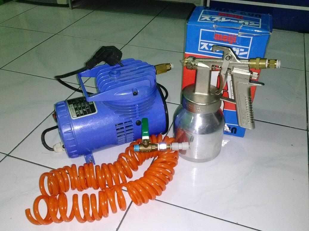 Terjual Jual Mini Air Aquarium Laut Tank Include Compressor Multipro Mcv 102 Mpab Murah Kompresor Lengkap Dengan Spray Gun