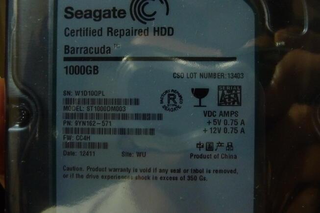 Hardisk Seagate 1T masih terbungkus rapi. Habis RMA