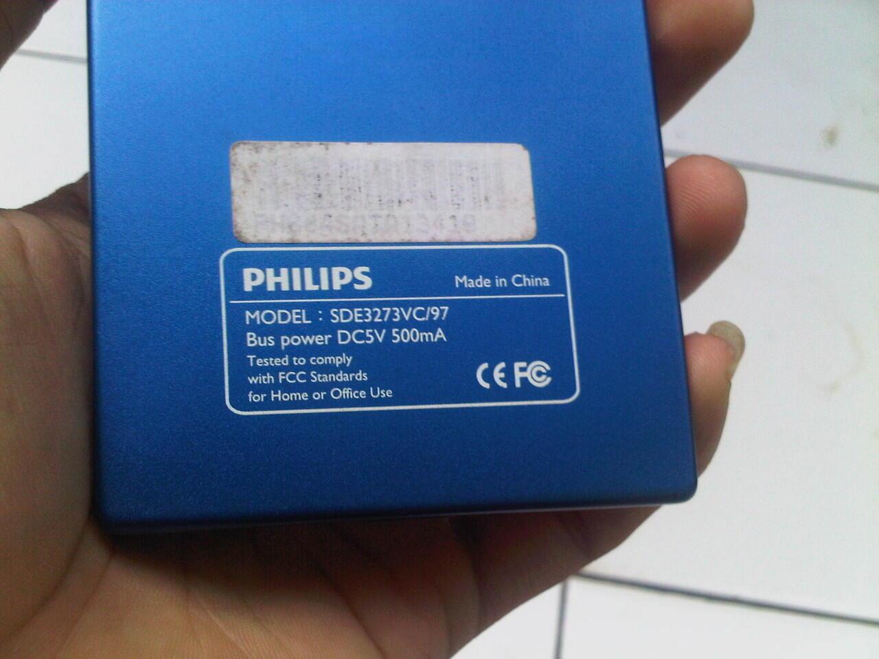 dijual HDD EXTERNAL 320gb philips USB 2.0
