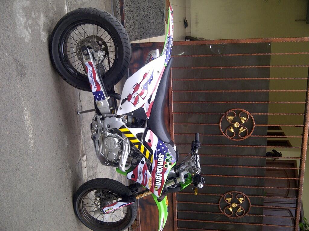 Klx 150 2012 modif kx250 full SE..accecoris mewah,harga murah.