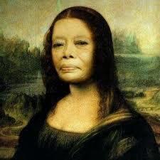 Lukisan Monalisa !! termakan waktu!!