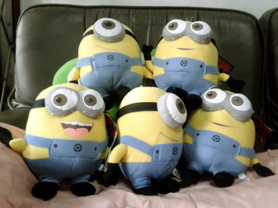 Boneka Animasi Totoro, Despicable Me – Papoy, Kuruneko, Mr Brown-Mr White