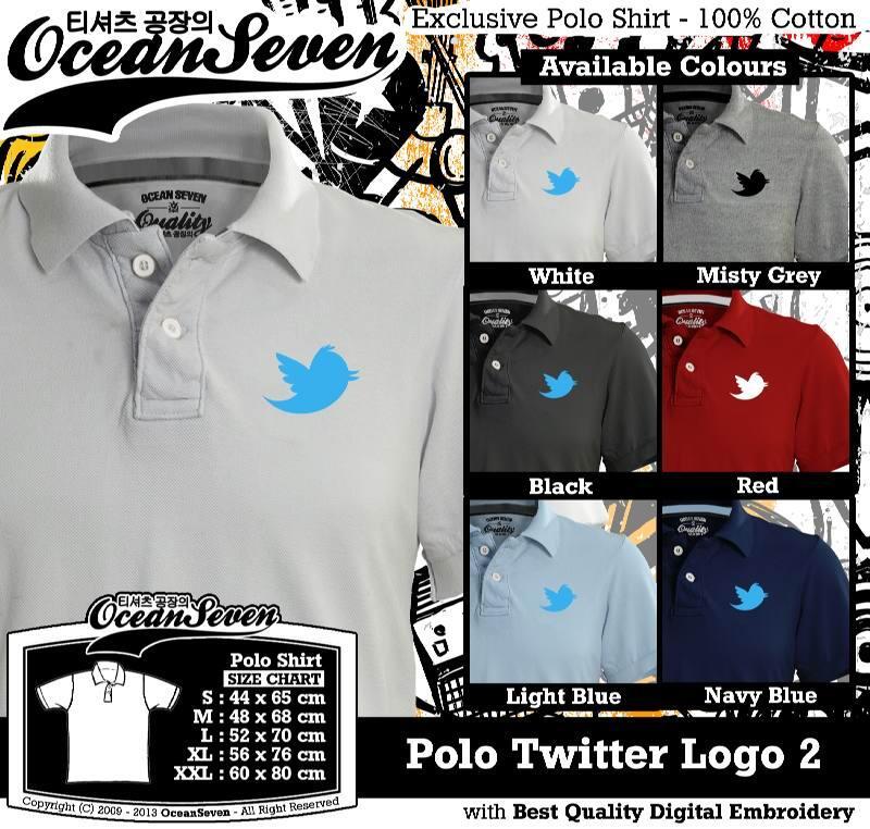 [ReadyStock] Kaos Polo Apple | Blackberry | Twitter | Whatsapp dll