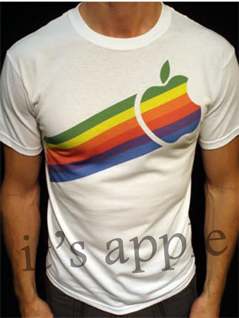 [it's Apple] Open PO   Jual T-Shirt,Baju,Kaos Apple/Iphone/Mac ( APPLE RAINBOW )