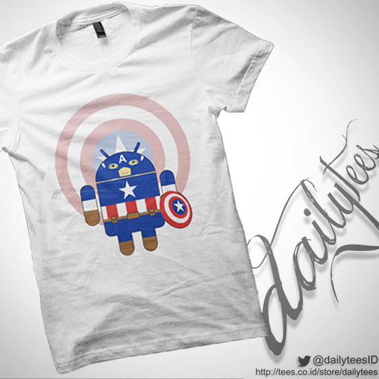 [Ready Stock] Android Superhero Series T-Shirt by DailyTees