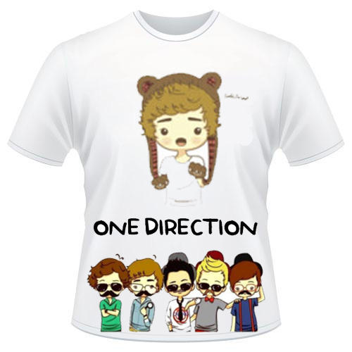 T-Shirt ONE DIRECTION MUSTACHE