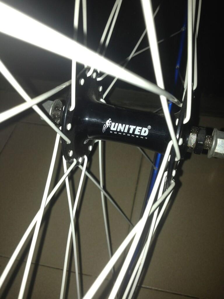 WTS wheel set brain biru+hub united (nego)