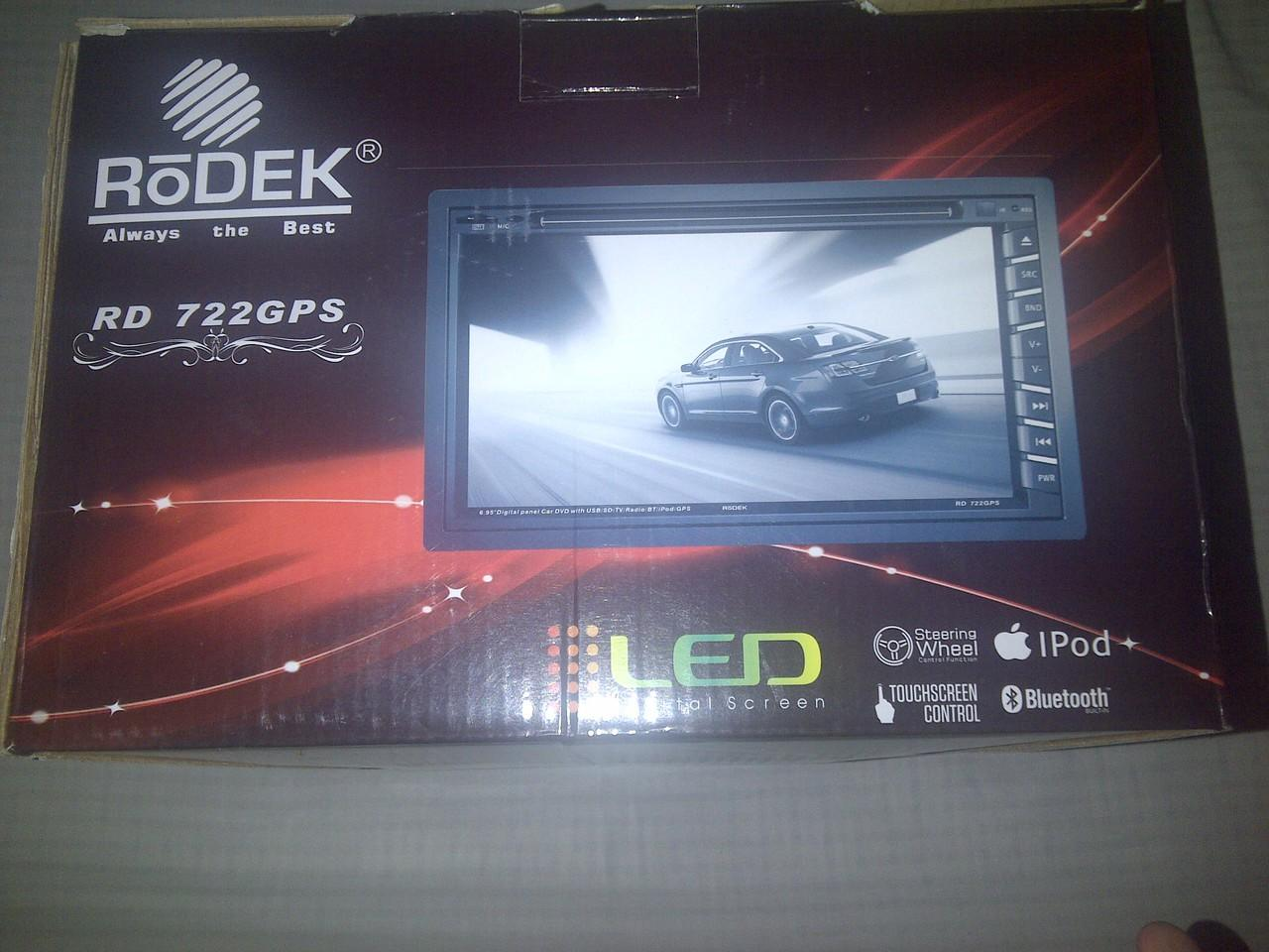 Rodek RD 722 double din car dvd,tv,radio,gps built in 99%