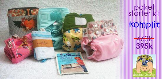 Paket Clodi (cloth diapers) - Popok Kain Bagi Pemula + Free ongkir*