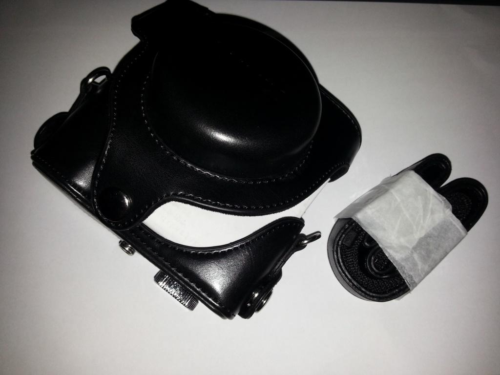 Leather Case dan Adaptor Tube Lens Kamera Panasonic Lumix LX-7, LX-5