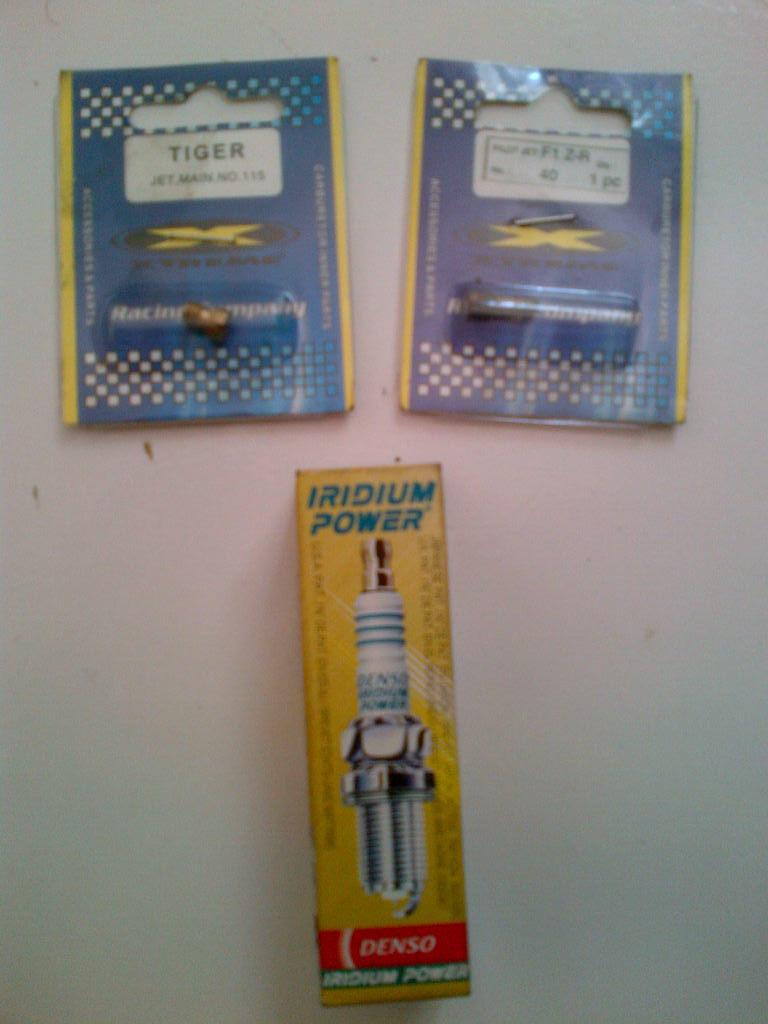 Jual Busi DIridium, Filter Air Yamaha Byson Ori, Main Pilot Jet