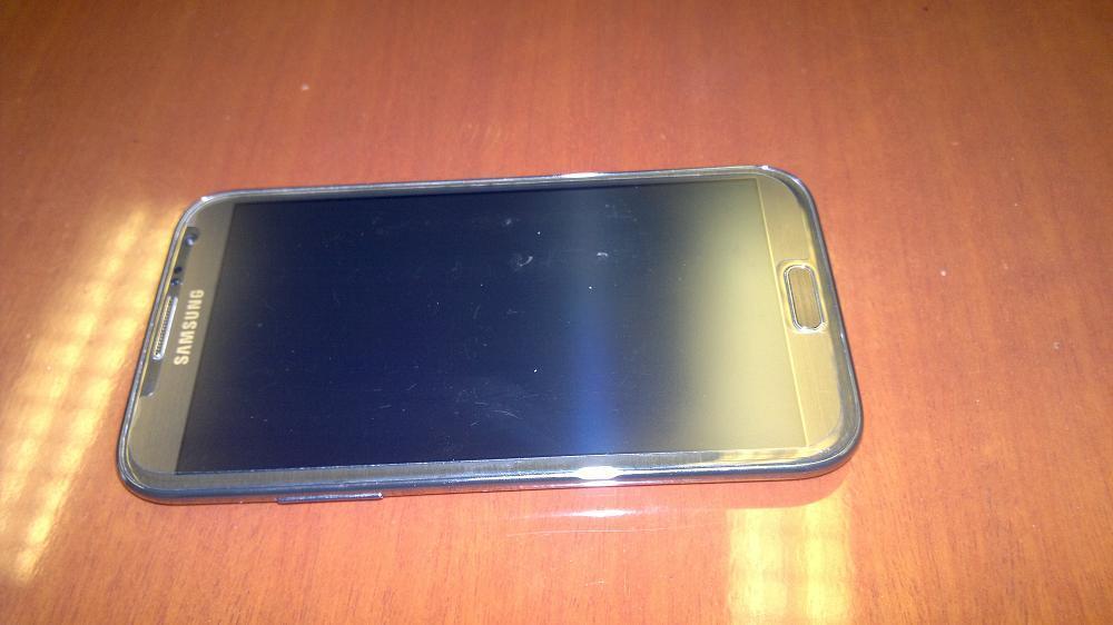 Samsung Galaxy Note 2 Abu-abu Metalik, 98% Like New