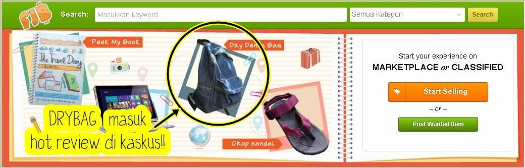 Tas Denim Ransel & Slempang || Dry Denim, Coated Denim, Flannel Denim, ETC || DRYBAG®