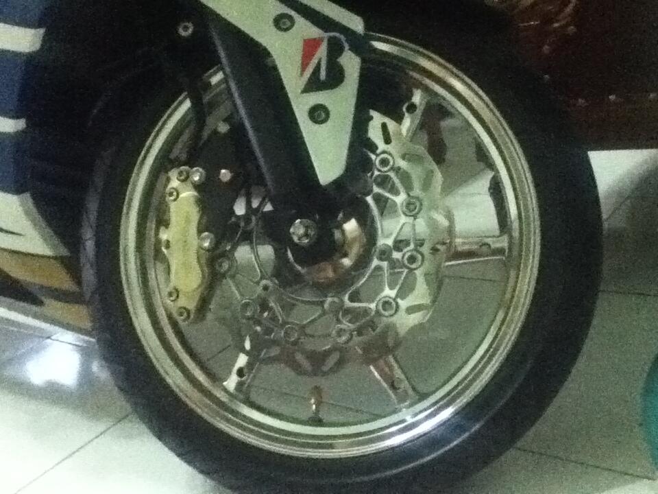 WTS swing arm delkevic ninja250 + velg Vrossi + disc brake dpn + ban. PAKET HEMAT