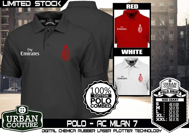 [Ready Stock] KAOS POLO SHIRT DISTRO AC MILAN ROMA INTERMILAN JUVENTUS SERIES COOL !!