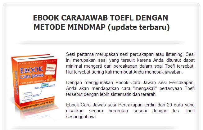 Ebook [HOT] Rahasia Sukses Mencapai Skor Tinggi Dalam Test TOEFL dgn Metode Mindmap !