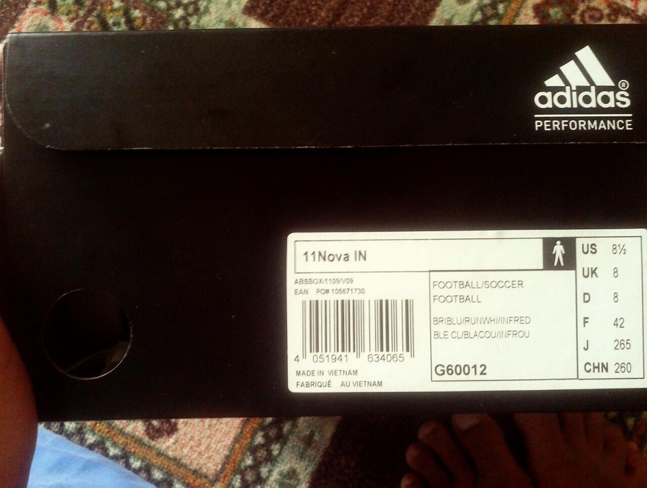 jual adidas adinova 11 uk 42 NEW!!! ORIGINAL!!! BIRU INFRARED