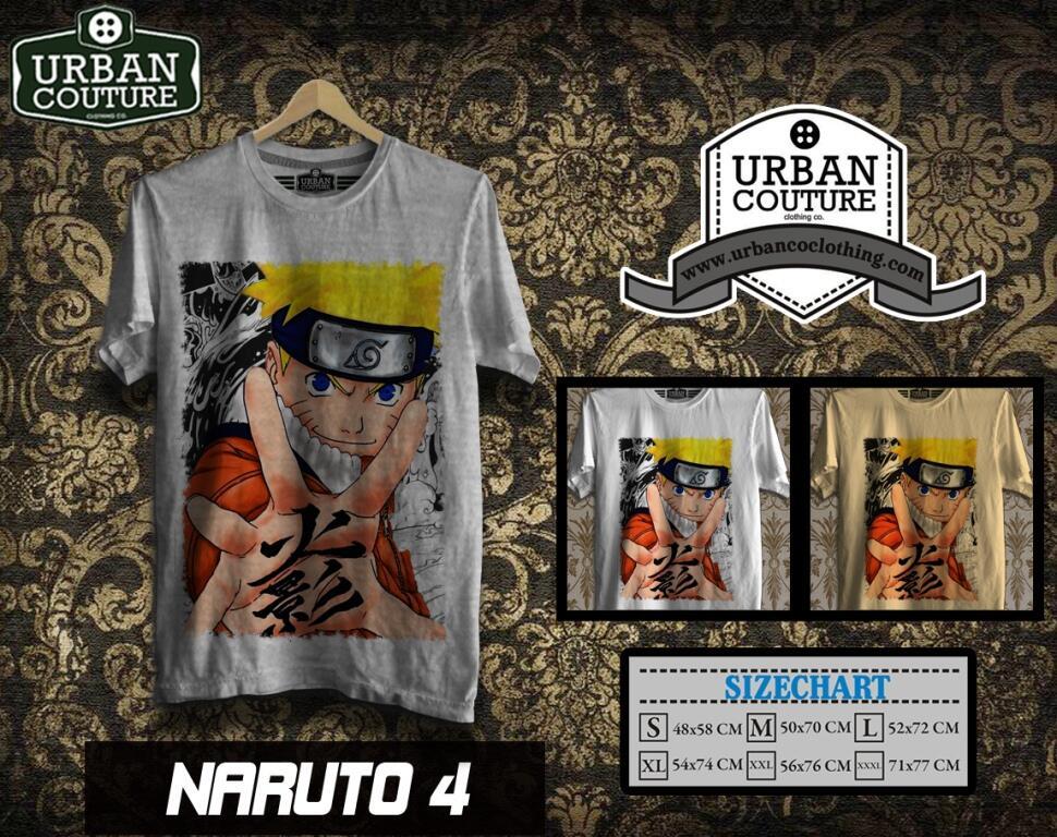 KAOS Shirt DISTRO MANGA SERIES (CONAN DORAEMON NARUTO ONE PIECE) !! READY STOCK GAN