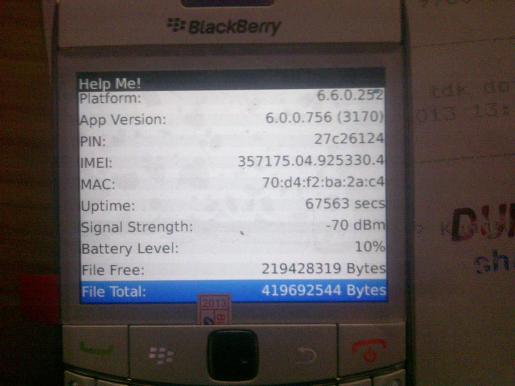 BLACKBERRY 9780 (ONYX 2) WHITE