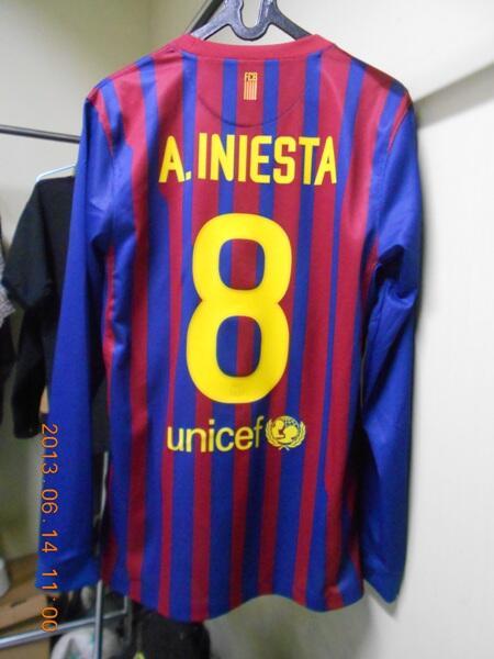 JERSEY BARCELONA HOME 2011-2012 - A.INIESTA - ORIGINAL - BNWT - LONG SLEVE