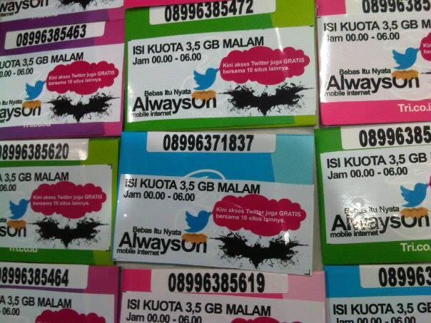 Perdana Tri Batman isi 3,5GB Kenyang Download hanya 10.000