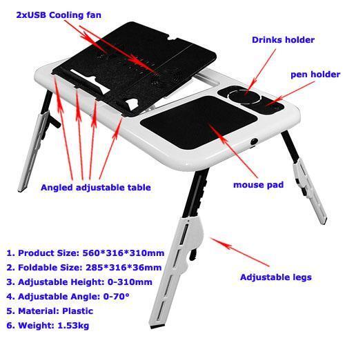 meja laptop e-table murah jakarta timur