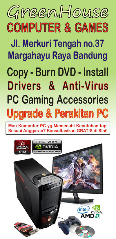CPU Gaming Baru & Bergaransi * Lengkap dgn isi Games yg Bebas Pilih Sendiri *