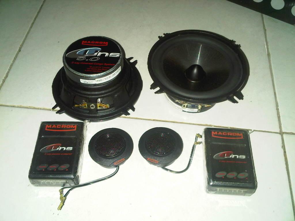 Power amp & Speaker split Macrom ( 1paket)