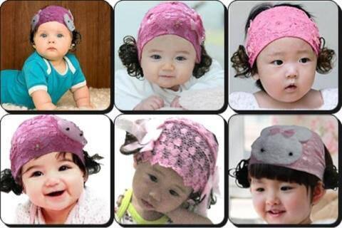 bandana wig baby cute