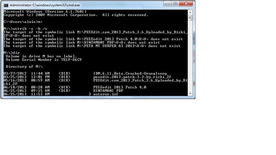 [HELP] Flash disk terkontaminasi virus