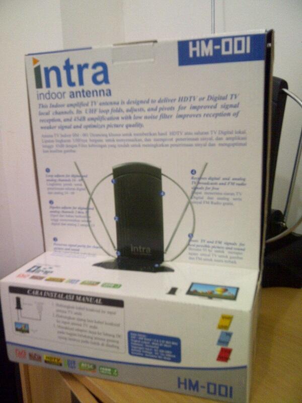 antena TV INDOOR + BOOSTER merk Intra murah