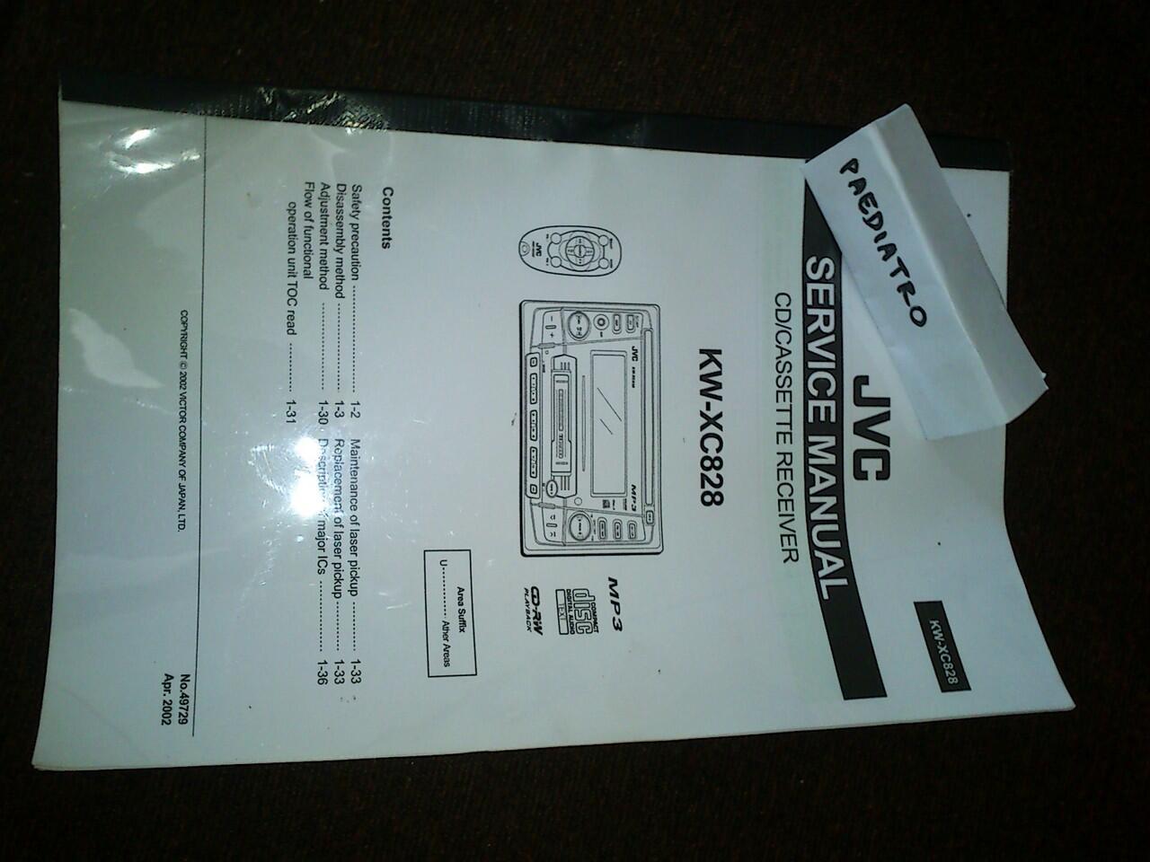 Double Din JVC KW-XC828 + cd changer 12 disc jvc