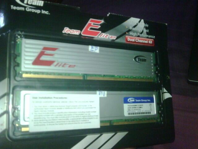 RAM MANTEP DDR3 8 GB TEAM ELITE DUAL CHANEL KIT