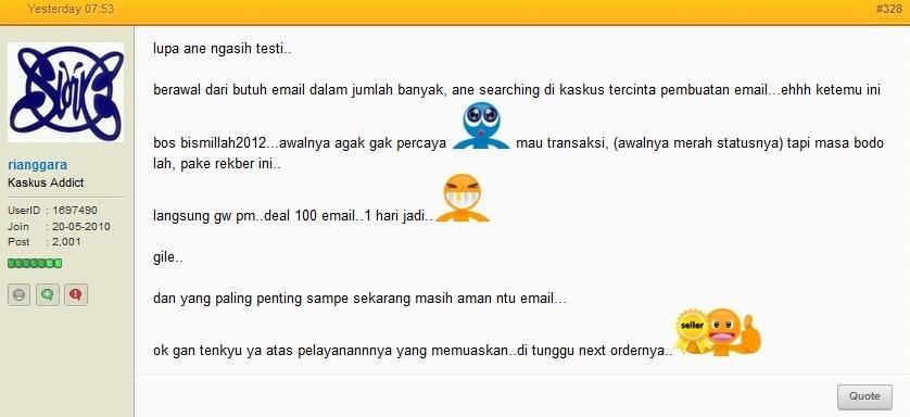 Jasa pembuatan email yahoo dan gmail (verifikasi no hp) dalam jumlah banyak