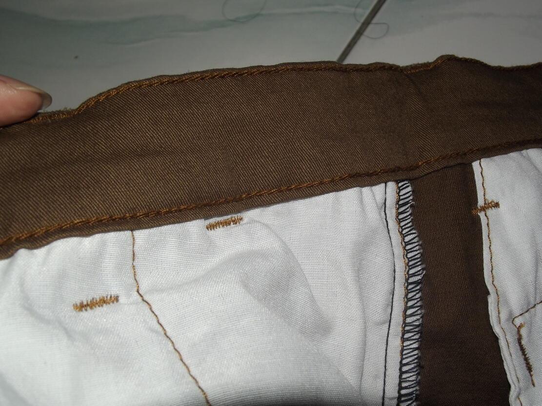 Lelang Longpants Chino Dark Khaki Twill Cotton Stretch Chainstich Custom, OB Rendah!!