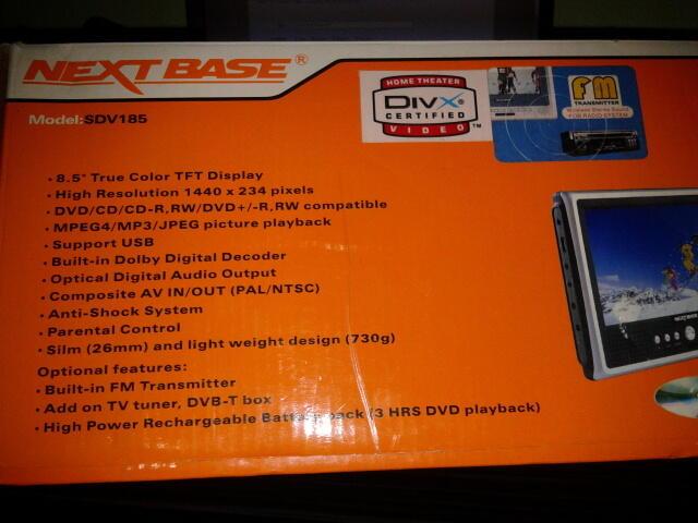 "Tablet DVD Player 8,5"" NEXT BASE"