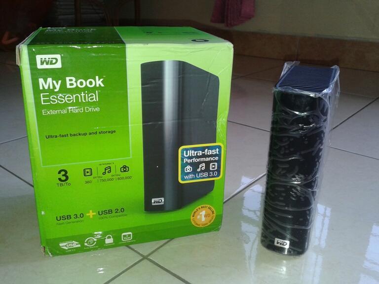Hardisk/HDD Eksternal WD 3 TB isi full 48 Famiy + Bonus