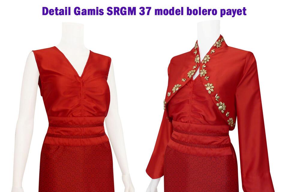 Terjual Gamis Batik Sarimbit Model Bolero Payet Code Srgm 37