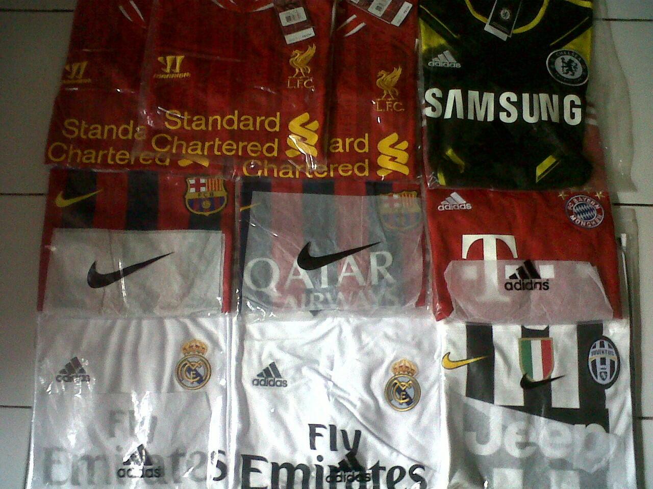 Official Jersey 2013/2014 GO . Madrid, Barca, Juve, Liv, dll