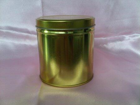 jual kaleng polos gold/silver untuk souvenir, pomade, permen, kopi, teh, cokelat, dll