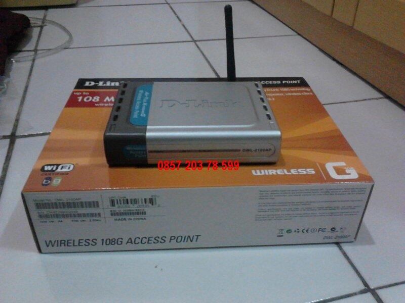 D-Link DWL-2100AP Wireless 108G Access Point - Bandung
