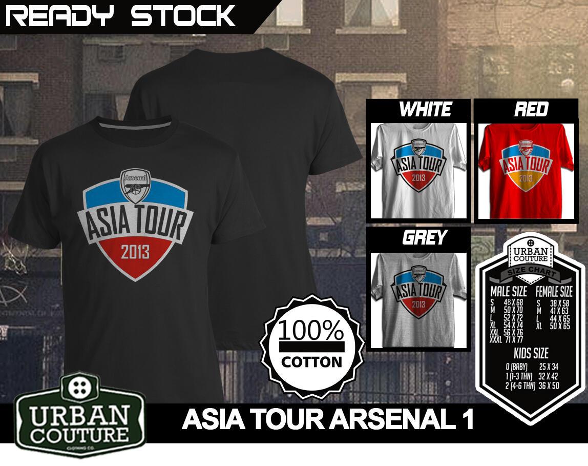 [READY STOCK] Kaos DISTRO Urban Couture RARE DESIGN !! EDISI ARSENAL ASIA TOUR !!!
