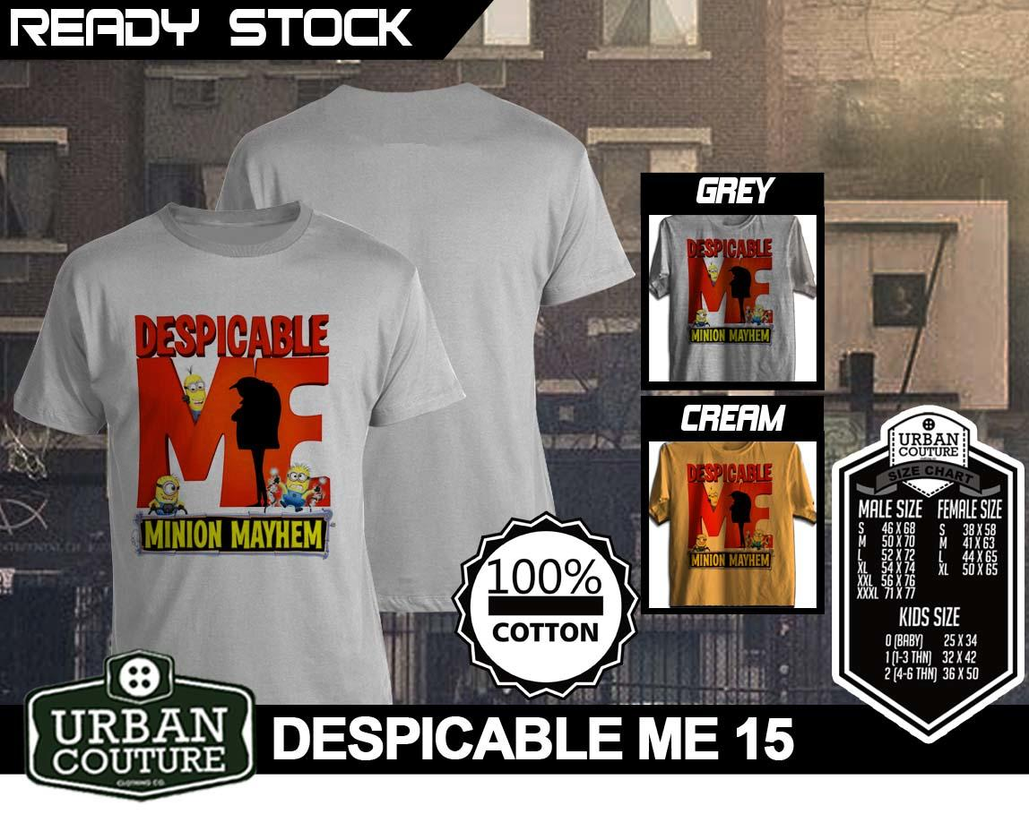 [READY STOCK] KAOS URBAN COUTURE (UPDATE) EDISI DESPICABLE ME 2 !! IT'S TREND NOW !!