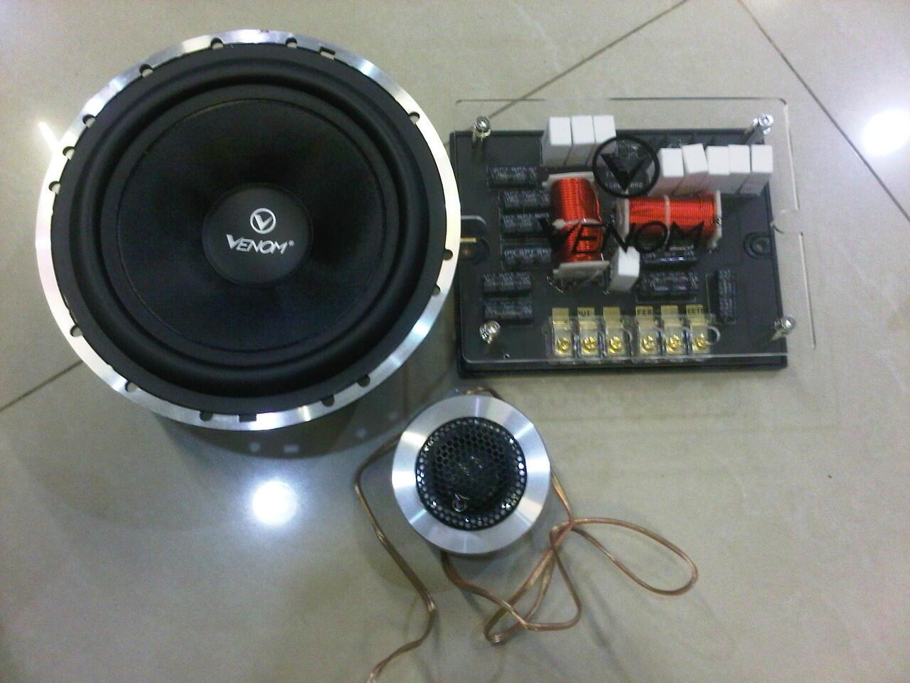 speaker split venom silver