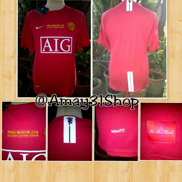 READY STOCK JERSEY BOLA MU FINAL MOSCOW 07/09 AIG KW SUPER THAILAND