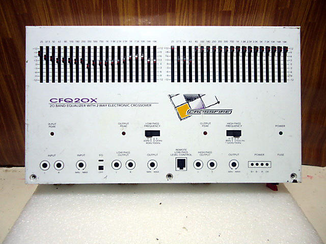 20 BAND EQUALIZER+2WAY CROSOVER ACTIVE CROSSFIRE (malang)