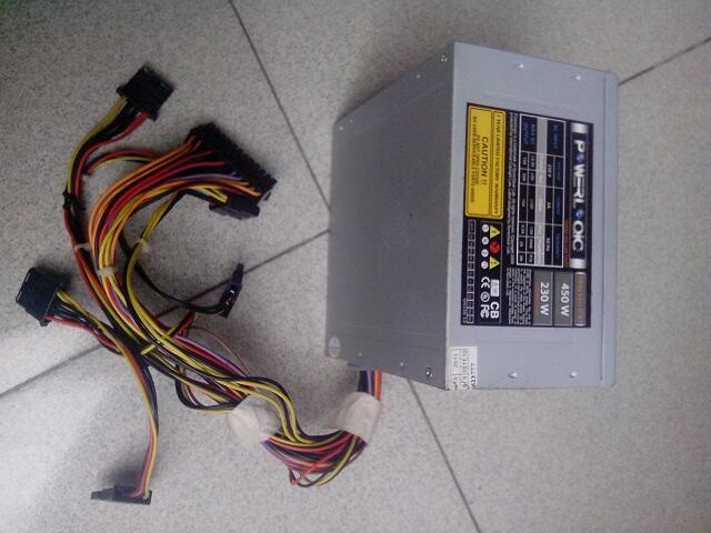 PSU Power Logic 450watt copotan dari casing