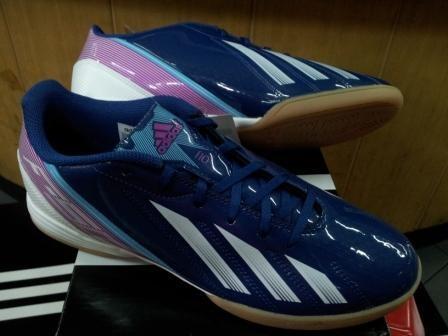 Adidas F10 Micoach Adizero Blue Pink Futsal